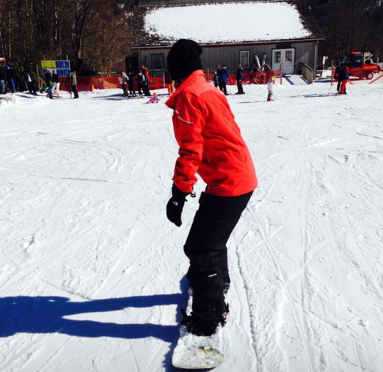 Kimmy Snowboarding
