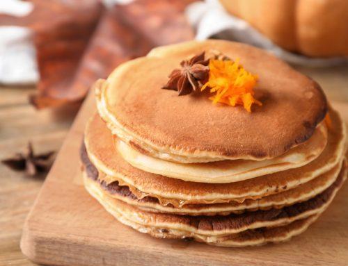 Protein Pumpkin Pie Pancakes
